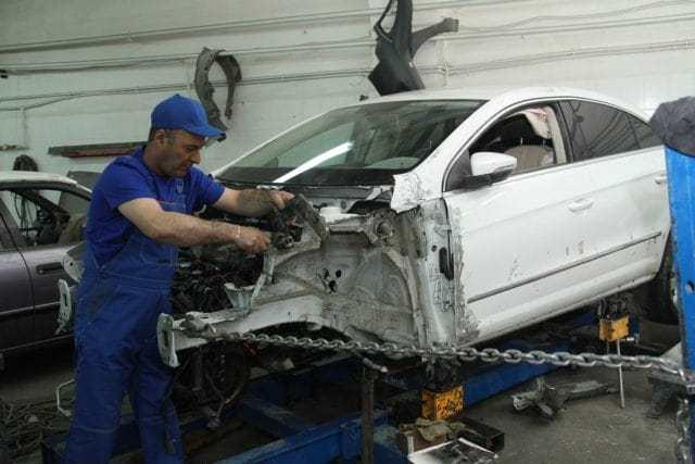фото процесс ремонта кузова автомобиля
